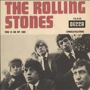 """Rolling Stones Time Is On My Side France 7"""" vinyl"""