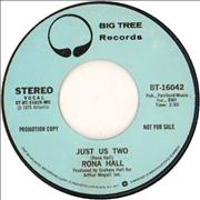 "Rona Hall Just Us Two USA 7"" vinyl Promo"
