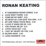 Click here for more info about 'Ronan Keating - Ronan Keating'