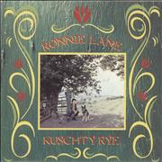 Click here for more info about 'Ronnie Lane - Kuschty Rye - A Label'