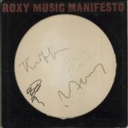Click here for more info about 'Roxy Music - Manifesto - Autographed'