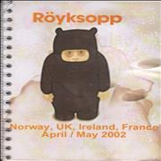 Click here for more info about 'Royksopp - UK & European Tour Spring 2002'