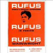 Click here for more info about 'Rufus Wainwright - Rufus In Person'