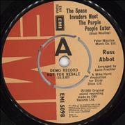 Click here for more info about 'Russ Abbot - The Space Invaders Meet The Purple People Eater - Demo 'A' Label'