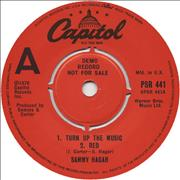 Click here for more info about 'Sammy Hagar - Turn Up The Music'