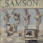 Click here for more info about 'Samson - Shock Tactics - Crimson Red Vinyl'