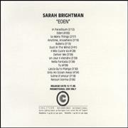 Click here for more info about 'Sarah Brightman - Eden'