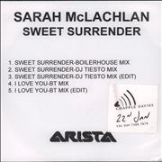 Click here for more info about 'Sarah McLachlan - Sweet Surrender - 4 tracks'