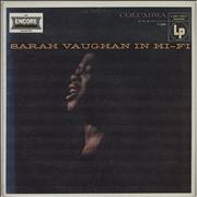 Click here for more info about 'Sarah Vaughan - Sarah Vaughan In Hi-Fi'
