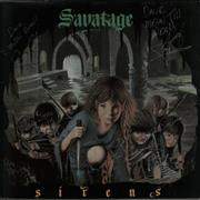 Click here for more info about 'Savatage - Sirens - Fully Autographed Sleeve'