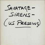 Click here for more info about 'Savatage - Sirens - Test Pressing'