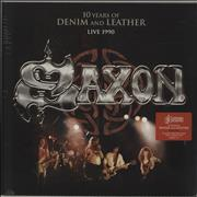 Click here for more info about 'Saxon - 10 Years Of Denim And Leather: Live 1990 - Sealed'