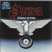 Click here for more info about 'Saxon - Wheels Of Steel - Black & White Swirl Vinyl - Sealed'