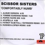 Click here for more info about 'Scissor Sisters - Comfortably Numb'