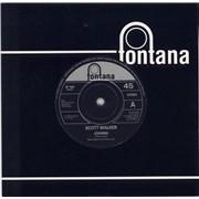 "Scott Walker Joanna + Promo Insert UK 7"" vinyl"