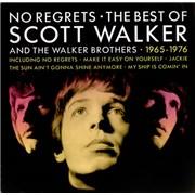 Scott Walker No Regrets - The Best Of UK vinyl LP