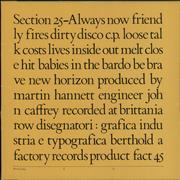 Click here for more info about 'Section 25 - Always Now - Envelope Sleeve'
