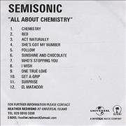 Click here for more info about 'Semisonic - All About Chemistry'