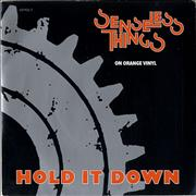 Click here for more info about 'Senseless Things - Hold It Down - Orange Vinyl'