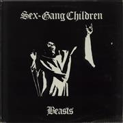 "Sex Gang Children Beasts UK 12"" vinyl"