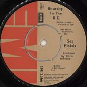 "Sex Pistols Anarchy In The U.K. - 1st + Slv UK 7"" vinyl"
