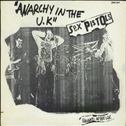 "Sex Pistols Anarchy In The UK - Ex France 12"" vinyl"