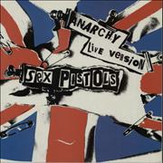 "Sex Pistols Anarchy In The UK Live Version UK 12"" vinyl"