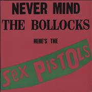 Sex Pistols Never Mind The Bollocks - Columbia House Club Edition USA vinyl LP