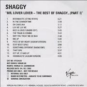 Click here for more info about 'Shaggy - Mr Lover Lover - The Best Of Shaggy'