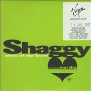 Click here for more info about 'Shaggy - Piece Of My Heart'