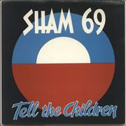 Click here for more info about 'Sham 69 - Tell The Children - P/s - Inj'
