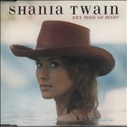 Shania Twain Any Man Of Mine UK CD single Promo