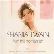 Shania Twain From This Moment On - CD2 UK CD single