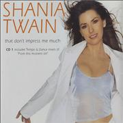 Shania Twain That Don't Impress Me Much UK 2-CD single set