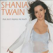 Shania Twain That Don't Impress Me Much Germany CD single