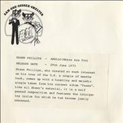Click here for more info about 'Shawn Phillips - Anello (Where Are You) - P/S'