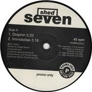 "Shed Seven Dolphin UK 12"" vinyl Promo"
