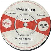 "Shenley Duffus I Know The Lord UK 7"" vinyl"