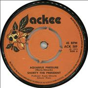 "Shorty The President Aquarius Pressure UK 7"" vinyl"