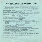 Click here for more info about 'Galaxy Entertainments Contract - December 1966'