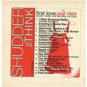 Shudder To Think First Love, Last Rites USA CD album Promo