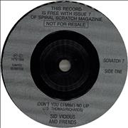 Click here for more info about 'Sid Vicious - (Don't You Gimme) No Lip'