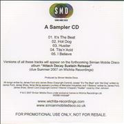 Click here for more info about 'Simian Mobile Disco - A Sampler CD'