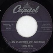 Click here for more info about 'Simon Crum - Stand Up, Sit Down, Shut Your Mouth'