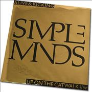 Click here for more info about 'Simple Minds - Alive & Kicking - Fully Autographed Metallic Sleeve!'