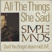 Click here for more info about 'Simple Minds - All The Things She Said'