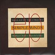 "Simple Minds Ballad Of The Streets UK 7"" vinyl"