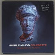 Simple Minds Celebrate - The Greatest Hits+ Tour 2013 (30.11.2013 O2 Arena London) UK 3-CD set