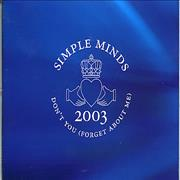 Click here for more info about 'Simple Minds - Don't You (Forget About Me) 2003'