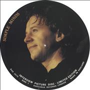 Click here for more info about 'Simple Minds - Interview Picture Disc'